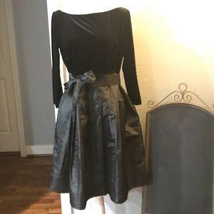 Evan- Picone Black Evening Holiday Dress SZ 12